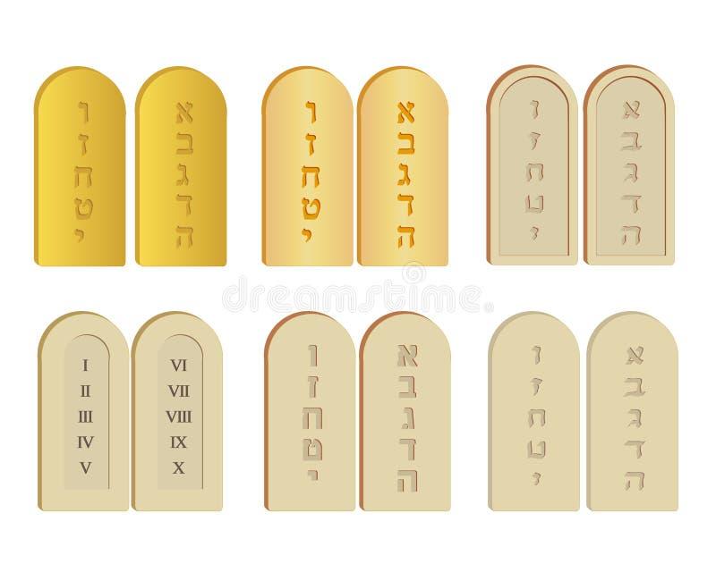 Tablets of Stone set vector illustration