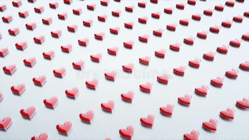 Tablets und Pillen verpackt Herz, Herz Pillen MEDIZINISCHES Konzept Wiedergabe 3d stock abbildung