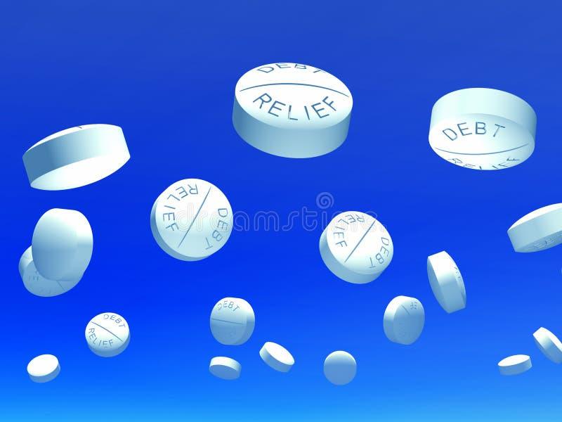 Download Tablette 3 illustration stock. Image du capsules, bleu - 12804605