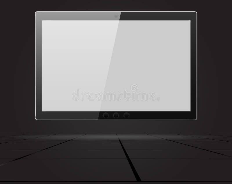 Tablette abstraite sur le mur Illustration de vecteur dans la perspective photo stock