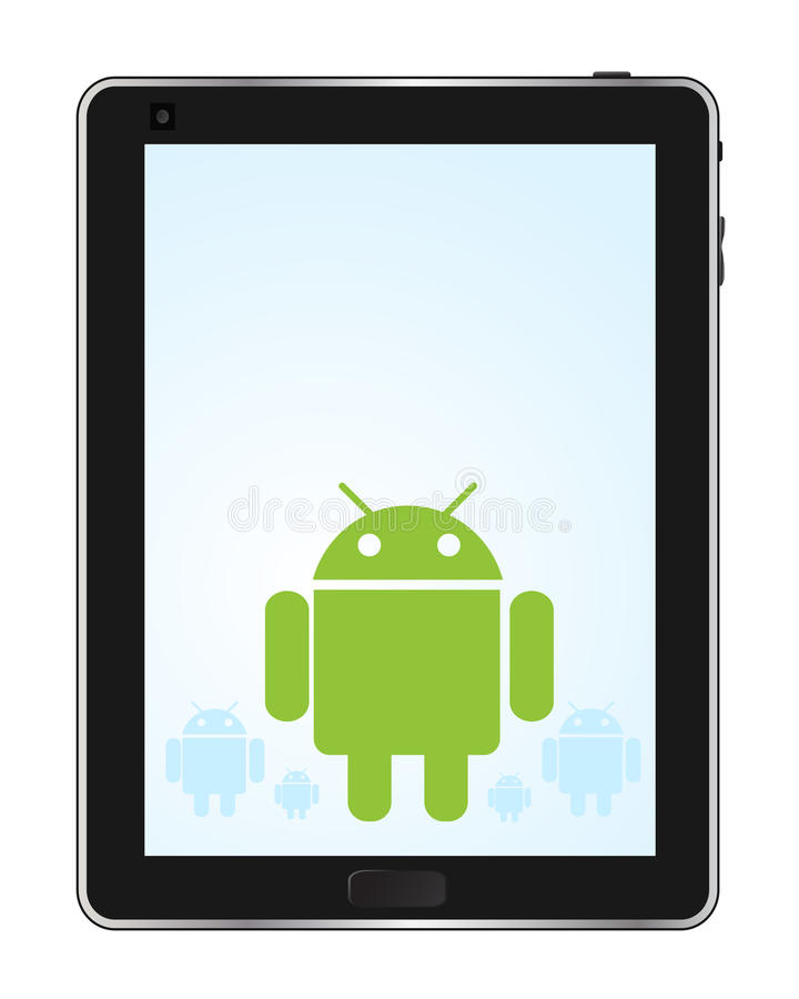 Tablette androïde illustration de vecteur