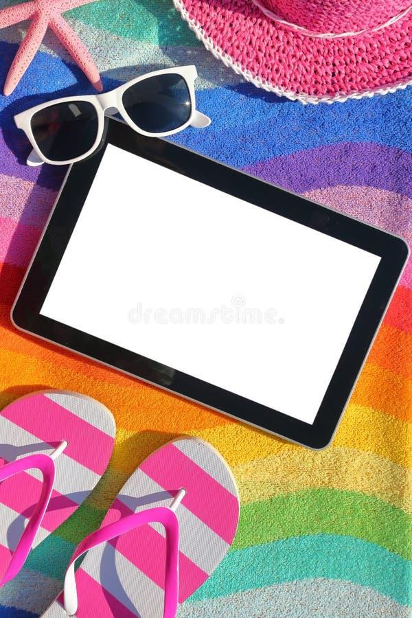 Tablette avec l'écran blanc photo libre de droits