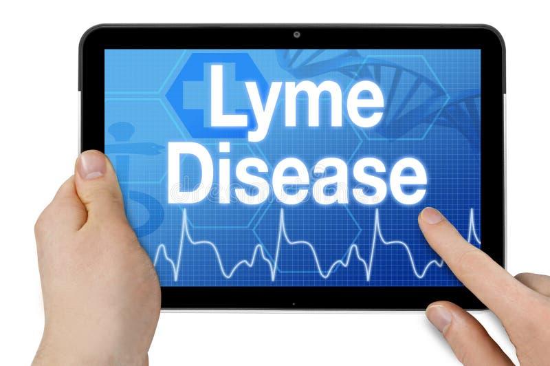 Tablette avec la maladie de lyme de diagnostic image stock