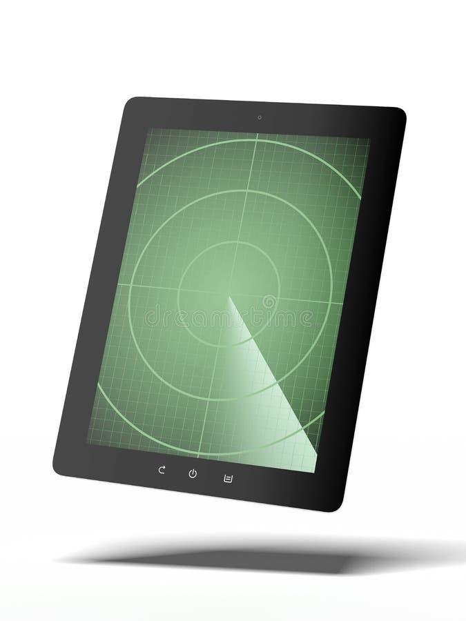 Tablette avec le radar illustration libre de droits