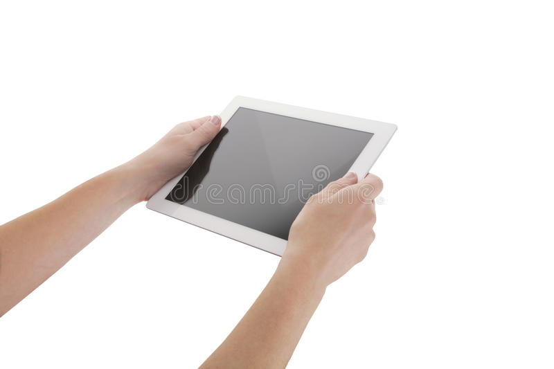 Tablette blanche photographie stock