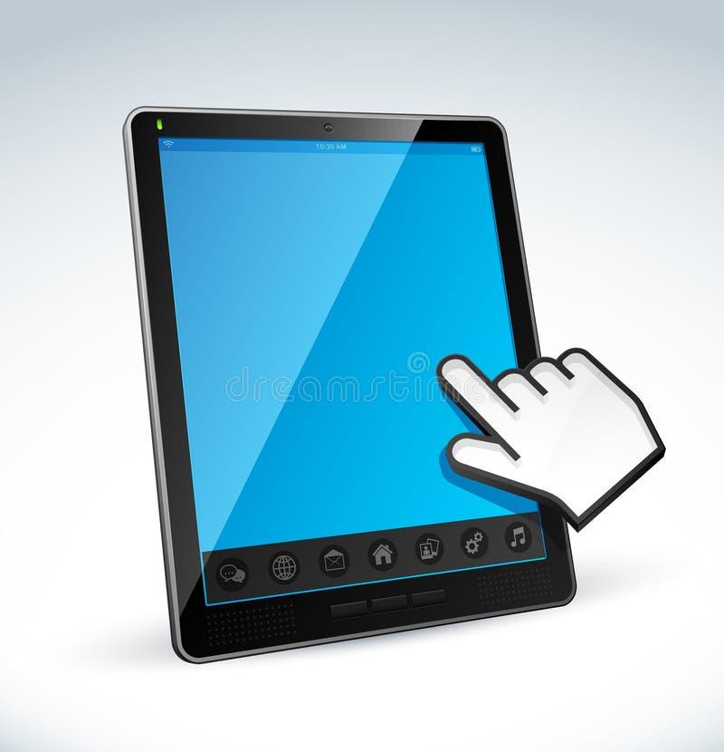 Tablette d'écran tactile illustration libre de droits