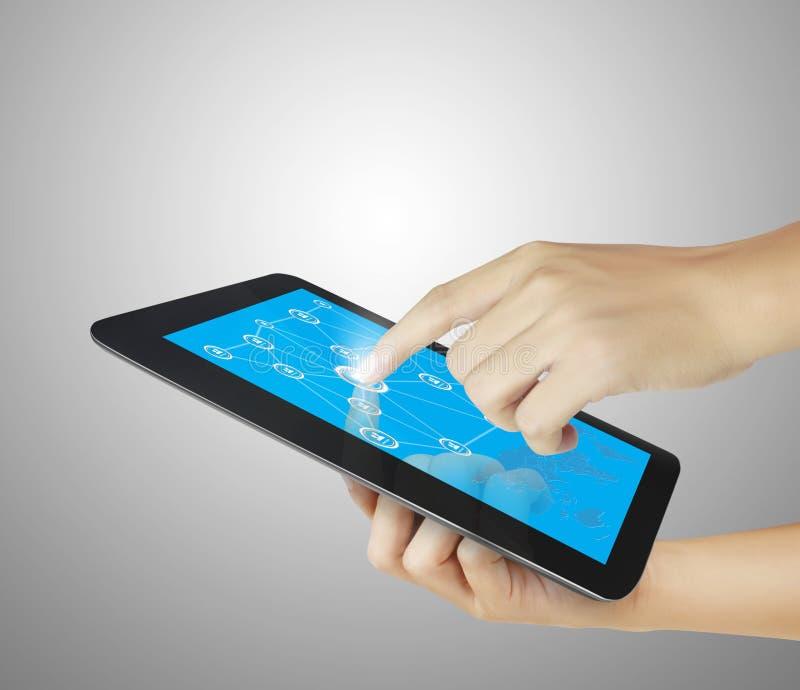tablette d'écran tactile image libre de droits