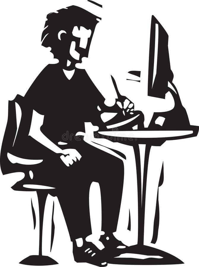 Tablette de dessin illustration libre de droits