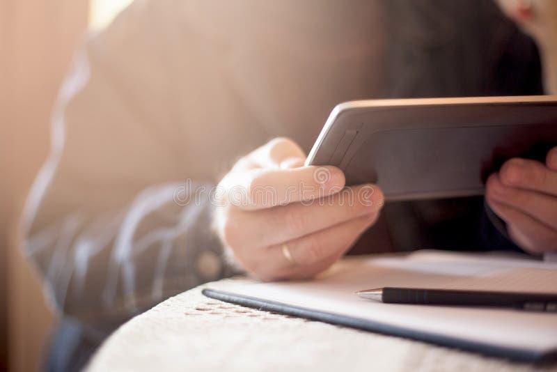 Tablette de Digitals ? disposition photo stock
