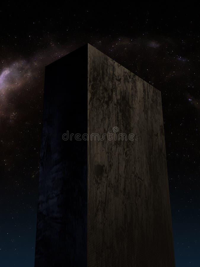 Tablette en pierre énorme sur Pluton 2 images libres de droits