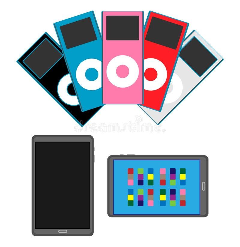 Tablette et électronique illustration stock