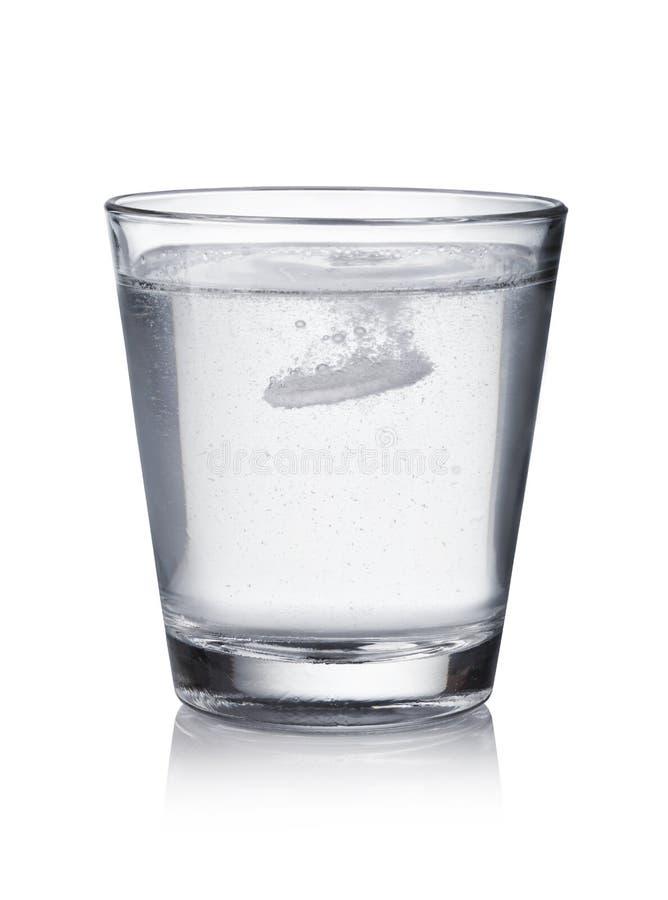 Tablette fiel in das Wasser lizenzfreies stockfoto