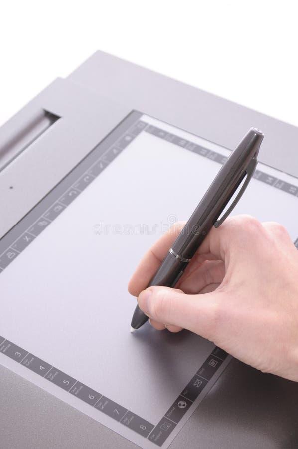 Tablette graphique photographie stock