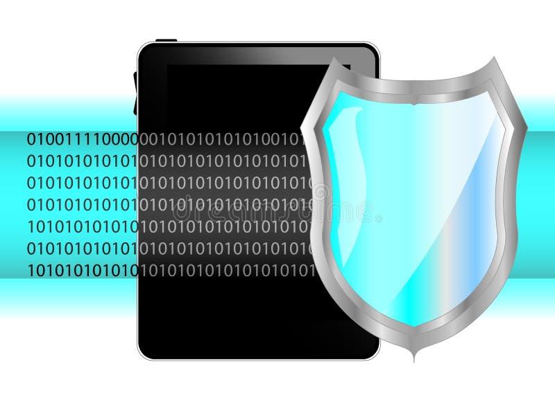 Tablette-PC mit Schild stock abbildung