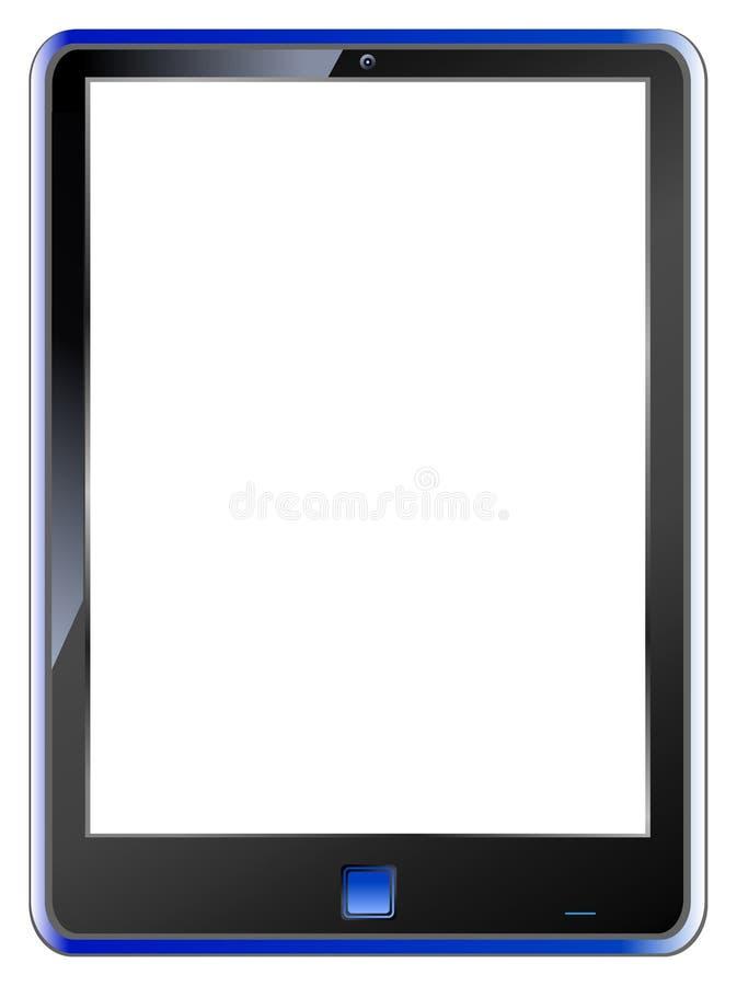 Tablette PC, unbelegte Bildschirmanzeige, Freiexemplarplatz stock abbildung
