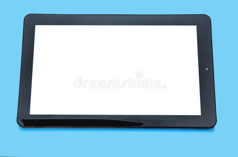 Tablette portative d'ordinateur tenu dans la main photographie stock