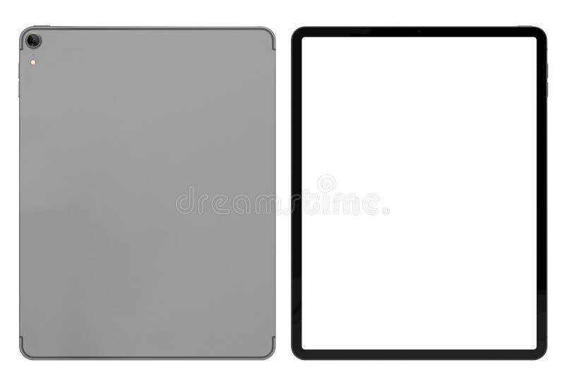 Tablette pro 2018 avec l'écran vide illustration stock