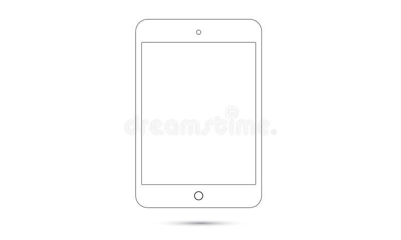Tablette réaliste d'Android Ipad Android de vecteur illustration stock