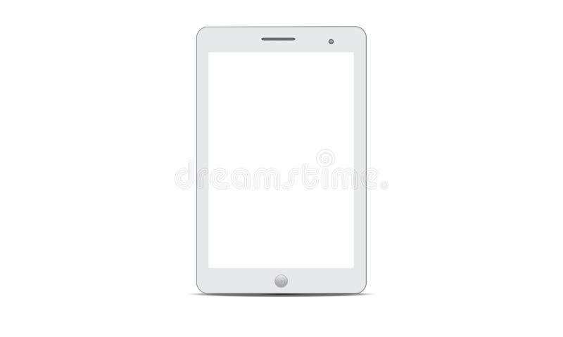 Tablette réaliste d'Android Ipad Android de vecteur illustration de vecteur