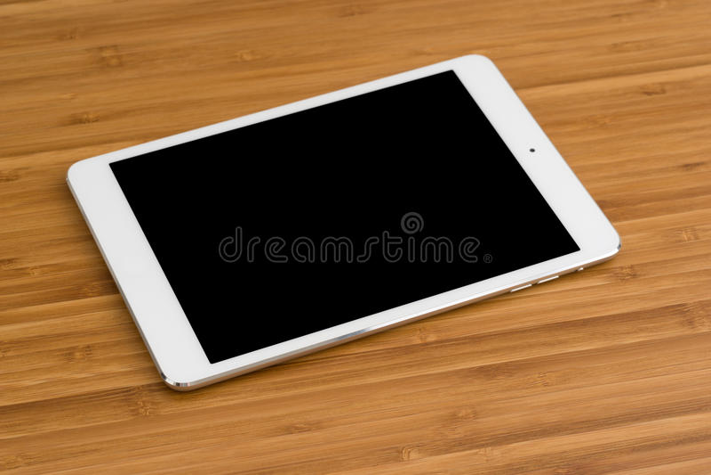 Tablette sur la table photo libre de droits