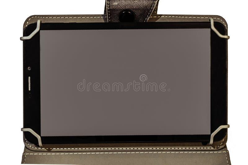 Tablette tactile avec l'espace de copie sur l'écran image libre de droits