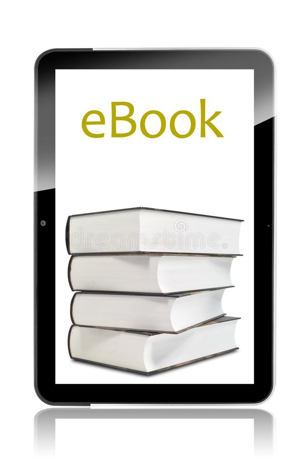 Tablette vide avec l'ebook illustration stock