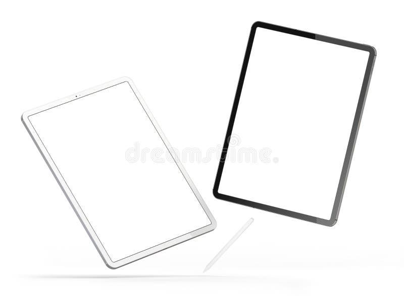 Tabletten in de nieuwe versie stock foto's