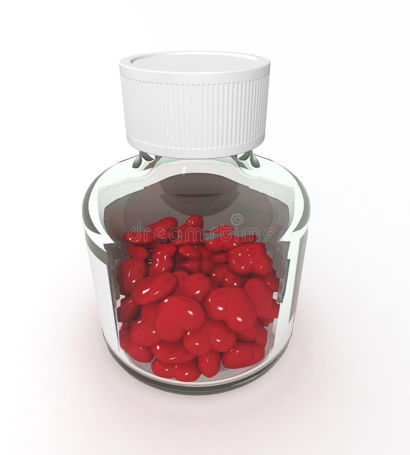 Tabletten der Liebe vektor abbildung