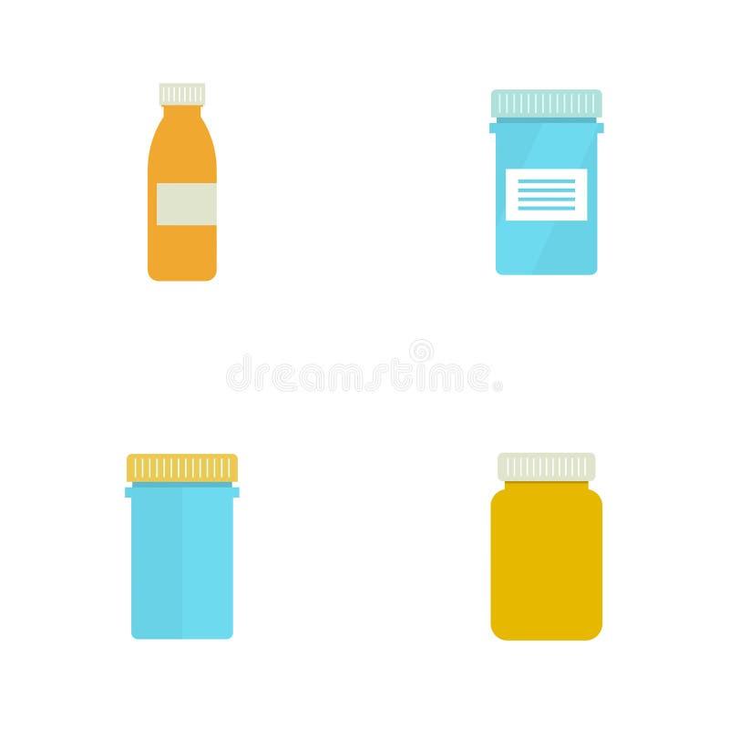 Tablettenfläschchen für Kapseln lizenzfreie abbildung