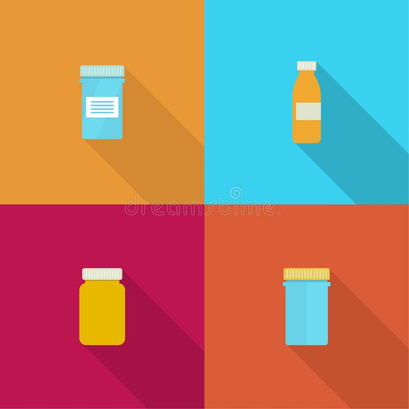 Tablettenfläschchen für Kapseln vektor abbildung