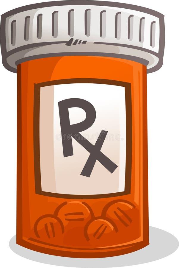 Tablettenfläschchenillustration stock abbildung