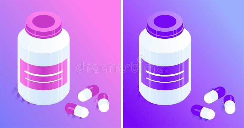 Tablettenfl?schchen und Pillen vektor abbildung