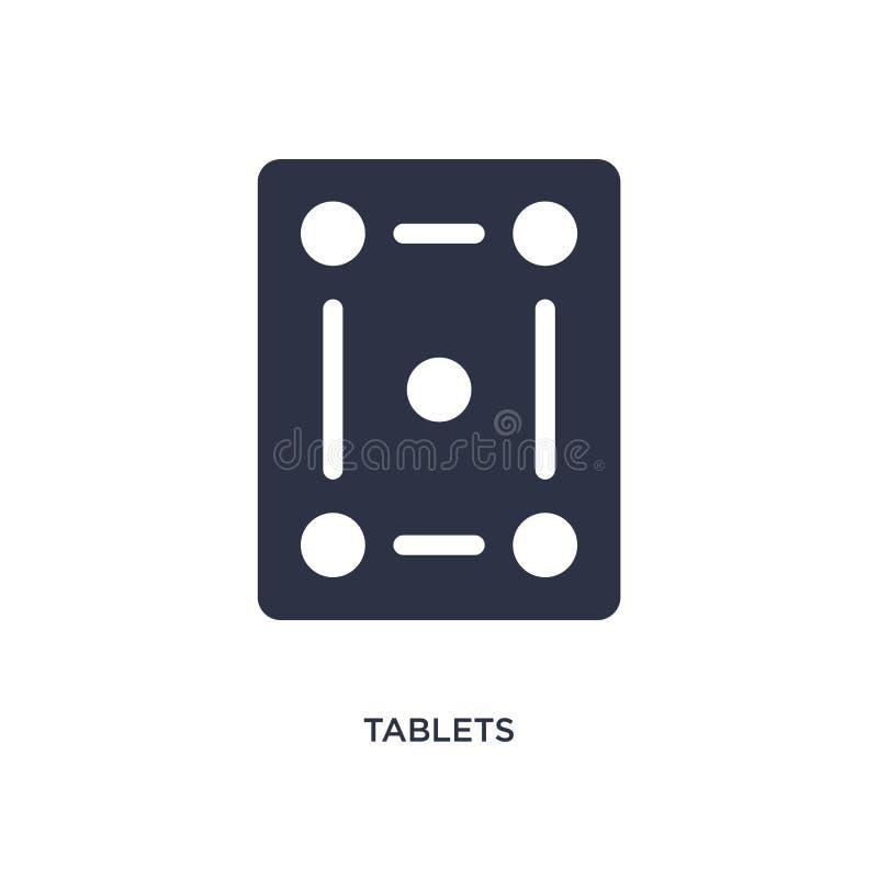 tablettenpictogram op witte achtergrond Eenvoudige elementenillustratie van Medisch concept royalty-vrije illustratie