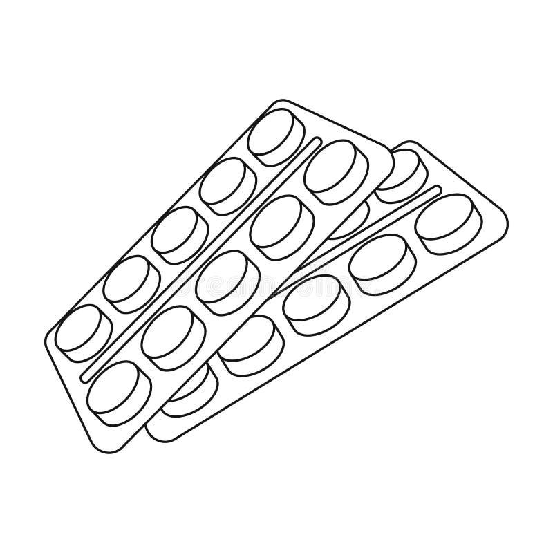 Tablettes dans le paquet Icône simple de vieillesse en Web d'illustration d'actions de symbole de vecteur de style d'ensemble illustration de vecteur