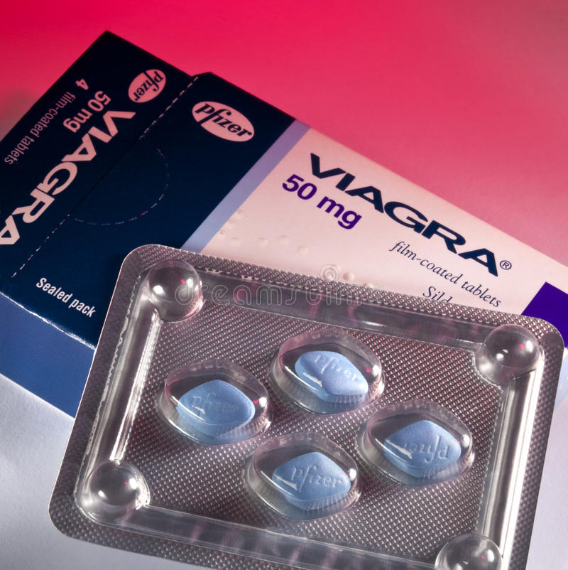 Tablettes de Viagra - médicament d'aide de sexe photos stock