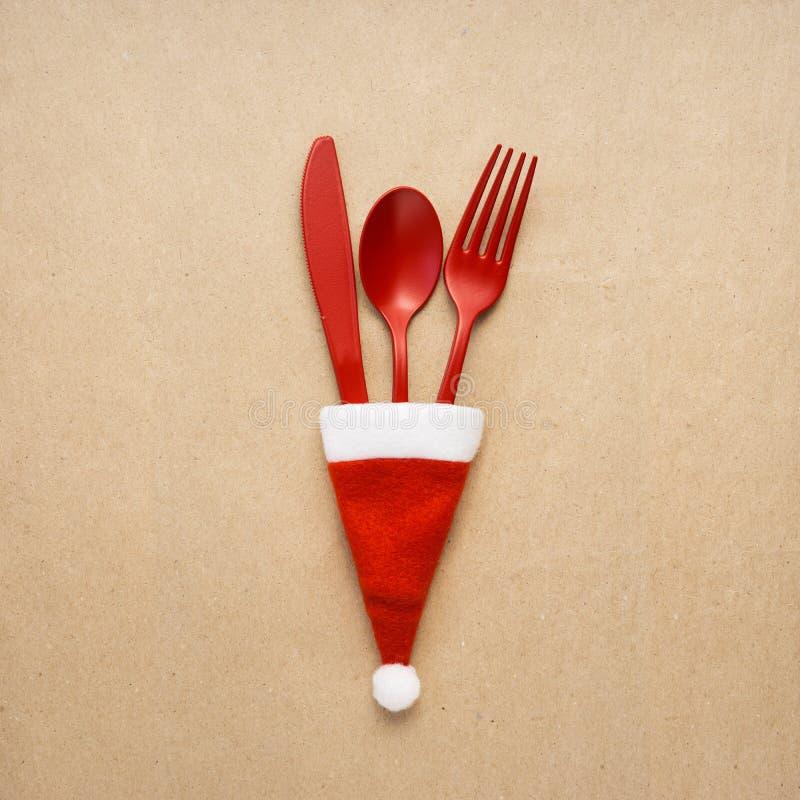 Tableware рождества стоковые изображения