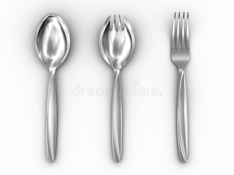 Download Tableware stock illustration. Illustration of silver - 12131931