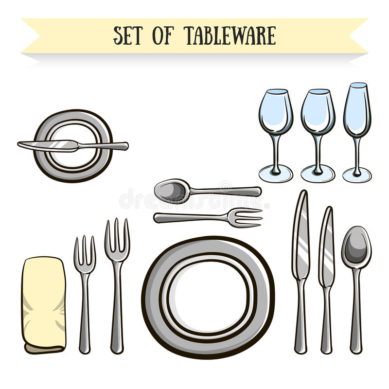 tableware illustration de vecteur