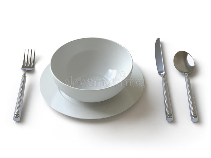 Download Tableware Collection - Push Here Stock Illustration - Image: 11268444
