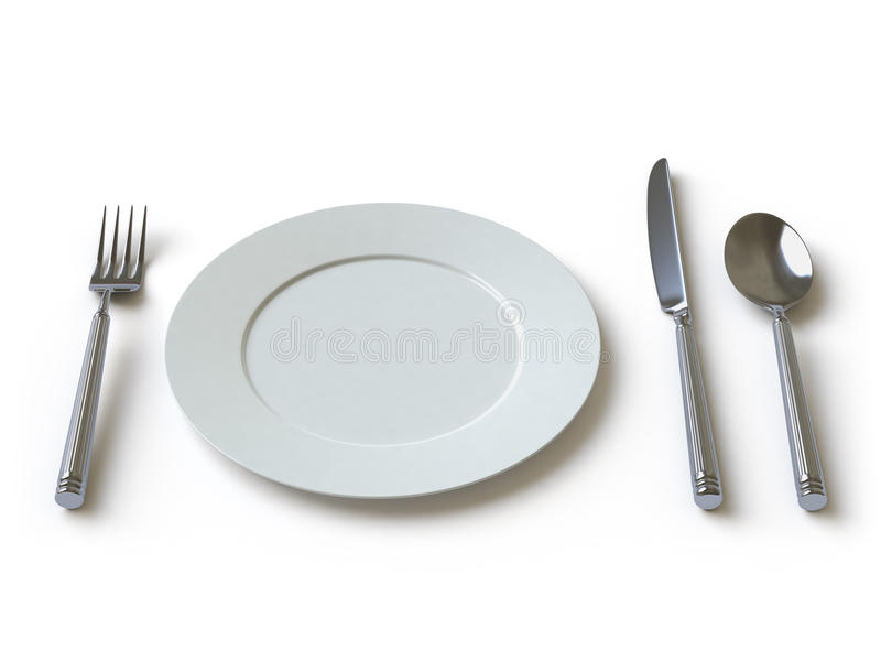 Download Tableware Collection - Push Here Stock Illustration - Illustration of knife, famine: 11268449