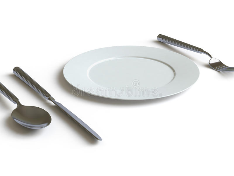 Download Tableware Collection - Push Here Stock Illustration - Image: 11268452