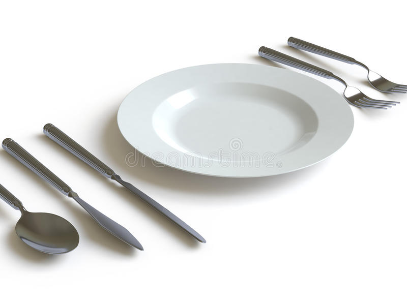 Download Tableware Collection - Push Here Stock Illustration - Image: 11372535