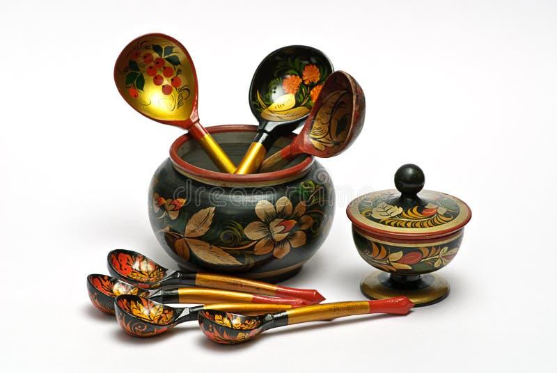 tableware drewniany zdjęcie royalty free