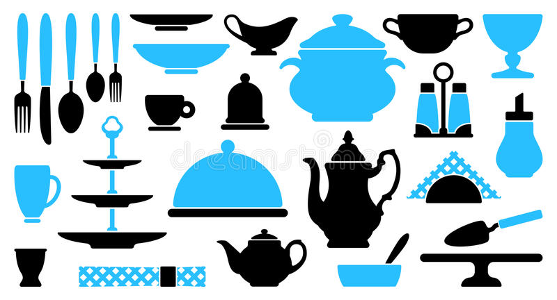 Tableware icons vector illustration