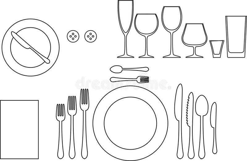 Tableware royalty free illustration