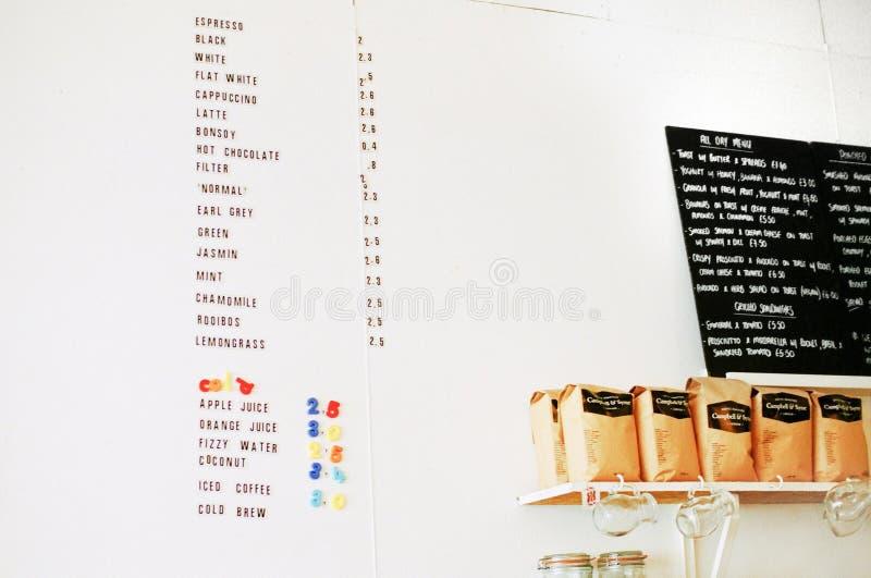 Tablica menu żywności fotografia royalty free