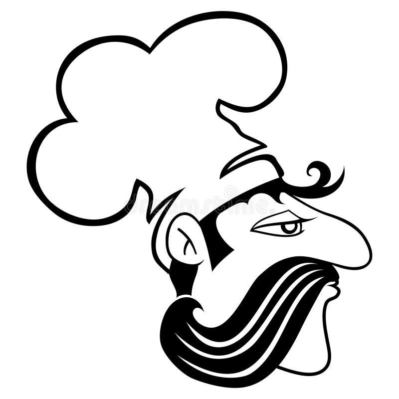 tablica wektora kucharz ilustracja wektor