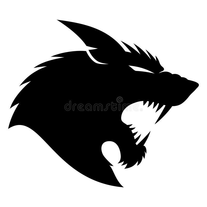 tablica wektora wilkołak ilustracji