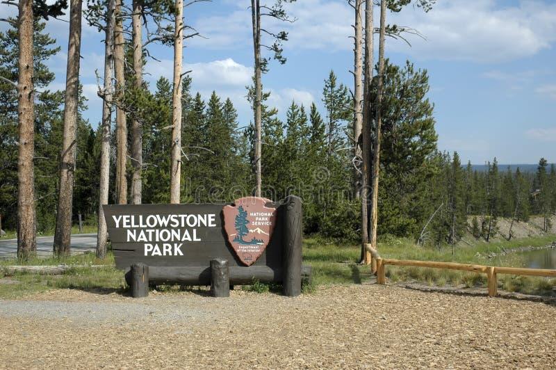 tablica Yellowstone zdjęcie royalty free
