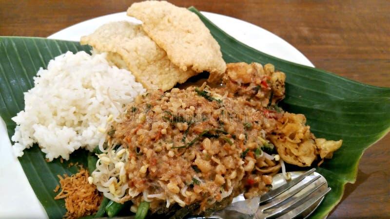 Tabliczka Pecela gado w Indonezji fotografia royalty free